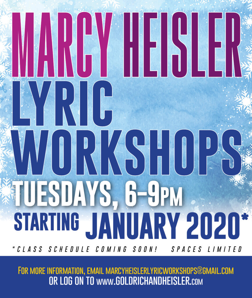 Marcy Heisler Lyric Workshops poster